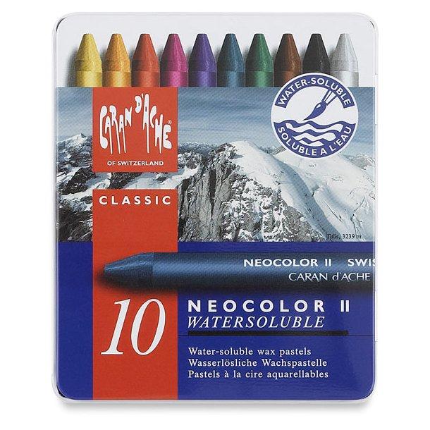 Caran D'ache Neocolor II vokspastel, 10 farver