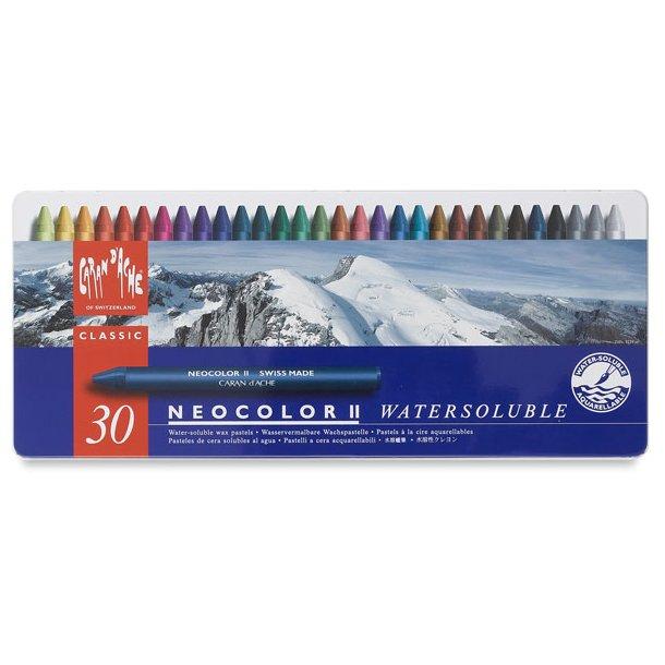 Caran D'ache Neocolor II vokspastel, 30 farver